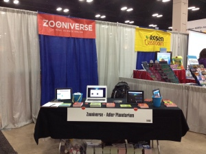 Our little corner of the exhibit hall at NSTA